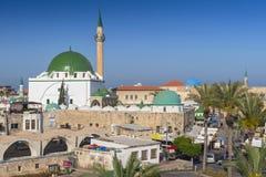 Al Jazzar Mosque i den gamla staden av den Akko tunnlandet, Israel fotografering för bildbyråer