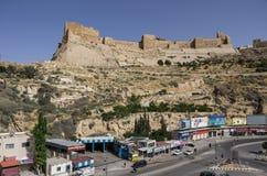 Al-Karak, Jodan - 3 Ιουνίου 2016: Άποψη στο κάστρο Ker σταυροφόρων στοκ φωτογραφία