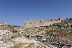 Al-Karak, Jodan - 3 Ιουνίου 2016: Άποψη στο κάστρο Ker σταυροφόρων στοκ εικόνα με δικαίωμα ελεύθερης χρήσης