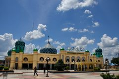 Al Karomah清真大寺主要教堂穆斯林的在Banjarbaru  免版税库存照片