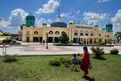 Al Karomah Great Mosque le lieu de culte principal pour des musulmans dans la ville de Banjarbaru images stock