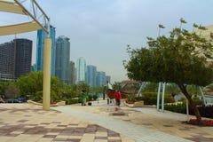 Al Khan Lagoon, near The Sharjah Maritime Museum and Sharjah Aquarium. United Arab Emirates. Royalty Free Stock Photography
