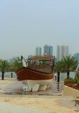 Al Khan Lagoon, near The Sharjah Maritime Museum and Sharjah Aquarium. United Arab Emirates. Stock Images