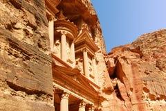 Al-Khazneh το Υπουργείο Οικονομικών στη Petra στην Ιορδανία στοκ φωτογραφίες