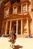 Al-Khazneh казначейство на Petra в Джордане стоковые фотографии rf