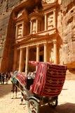 Al-Khazneh казначейство на Petra в Джордане стоковое фото rf