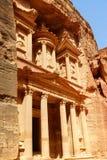 Al-Khazneh казначейство на Petra в Джордане стоковые фото