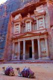 Al Khazneh in the ancient city of Petra, Jordan. It is known as The Treasury. Petra has led to its designation as a UNESCO World H stock photos