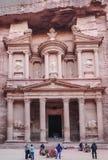 Al Khazneh in the ancient city of Petra, Jordan. Royalty Free Stock Images