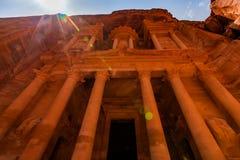 Al Khazneh - o Tesouraria, cidade antiga de PETRA, Jordânia Fotos de Stock