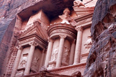 Al Khazneh Petra ancient city, Jordan Stock Images