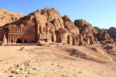 Al Khazneh in Petra, Jordan. Stock Photos