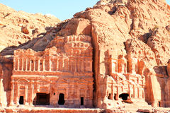 Al Khazneh in Petra, Jordan. Royalty Free Stock Photo
