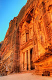 Al Khazneh temple in Petra. UNESCO world heritage site Royalty Free Stock Photography