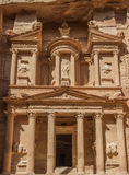 Al Khazneh or The Treasury in nabatean city of  petra jordan Royalty Free Stock Images