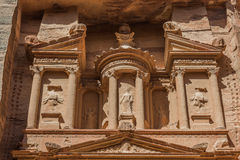 Al Khazneh or The Treasury in nabatean city of  petra jordan Royalty Free Stock Photography