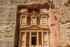 Al Khazneh or The Treasury in nabatean city of  petra jordan Stock Image