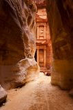 Al Khazneh or The Treasury at Petra Royalty Free Stock Photos