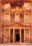 Al Khazneh - the treasury of Petra ancient city Royalty Free Stock Image