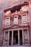 Al Khazneh, the treasury of Petra ancient city, Jordan Stock Photo