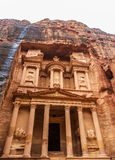 Al Khazneh - the treasury of Petra ancient city Stock Photos