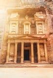 Al Khazneh - the treasury of Petra ancient city, Jordan Royalty Free Stock Photography