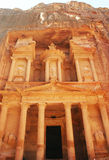 Al Khazneh , The treasury of Petra  Jordan. The entrance Stock Image