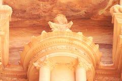Al Khazneh , The treasury of Petra  Jordan. (Decoration Details Royalty Free Stock Image