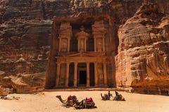 Al Khazneh or The Treasury at Petra. Jordan Stock Photos