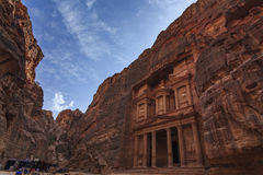 Al Khazneh or The Treasury at Petra. Stock Images