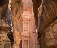 Al Khazneh or The Treasury at Petra, Jordan Stock Image