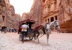 Al Khazneh or The Treasury at Petra, Jordan Royalty Free Stock Image