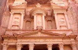 Al Khazneh or The Treasury at Petra, Jordan Royalty Free Stock Photos