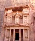 Al Khazneh or The Treasury at Petra, Jordan-- it is a symbol of Jordan, as well as Jordan's most-visited tourist attraction. Petra has been a UNESCO World stock photo
