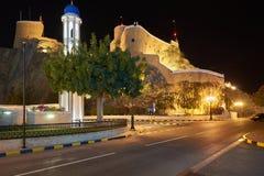 Al Khor Mosque e Al Mirani Fort imagem de stock