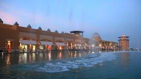 Al Kout Mall em Kuwait no crepúsculo filme
