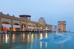 Al Kout Mall in Kuwait at dusk Stock Images