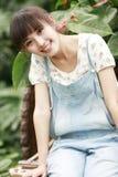 Al lado chino de la muchacha Imagen de archivo