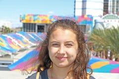 Al lado de la muchacha Fotos de archivo libres de regalías