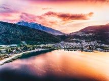 Al Lago de Calceranica no lago Caldonazzo em Trentino Foto de Stock Royalty Free
