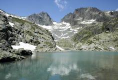 Al lato del lago Blanc Immagini Stock