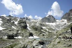 Al lato del lago Blanc Fotografia Stock