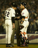 Al Leiter and Mike Piazza Royalty Free Stock Photography