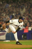 Al Leiter pitching in the 2000 World Series Royalty Free Stock Image