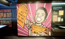 Al Macht aan het Mensententoongestelde voorwerp binnen het Nationale Burgerrechtenmuseum in Lorraine Motel stock foto