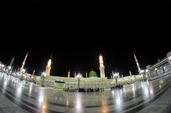 AL MADINAH,沙特ARABIA-FEB王国。18 :Fisheye观点的Mas 库存图片