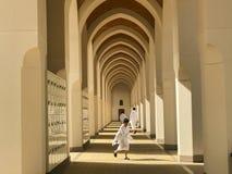AL MADINAH SAUDIER ARABIA-JANUARY 20, 2018: En grupp av unidentif Royaltyfri Foto