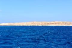 AL-MAHMYA INSEL, ÄGYPTEN - 17. OKTOBER 2013: Al-Mahmya ist ein Nationalpark mit Paradiesstrand und großer Touristenattraktion von Lizenzfreie Stockbilder