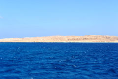 AL-MAHMYA ISLAND, EGYPT - OCTOBER 17, 2013: Al-Mahmya is a National Park with paradise beach and big tourist attraction of Egypt. Here comes a lot of tourists Royalty Free Stock Images