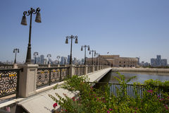 Al Majaz Amphitheatre in Scharjah, Vereinigte Arabische Emirate Lizenzfreie Stockfotografie